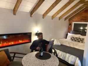 Glamping dans Charlevoix avec un grand lit confortable